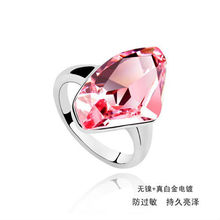 2013 New Products Crystal Pink Stone Fashion Cocktail Ring