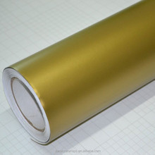High Quality bubble free gold vinyl wrap for car covering