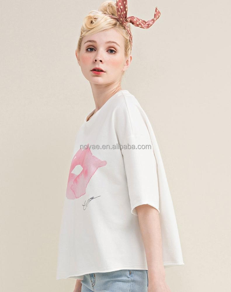 Cheap Wholesale Women Clothes Pima Cotton Short Sleeve
