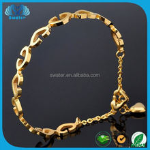 2015 Fancy Handmade Fashion Popular At High Quality Gold Bracelets With Pendants