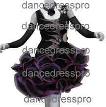 # 2092 douanière fait salle de bal robe de danse latine
