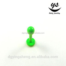 2015 hot sale green labret ring piercing jewelry for men
