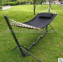 outdoor leisure folding hammock/garden balcony folding hammock set