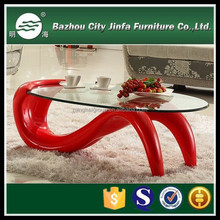 mini shape as animal glass fiber reinforced plastic tempered glass coffee table mct-w1005