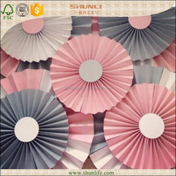 girls party decoration mixed colors and sizes hanging DIY Paper Flowers