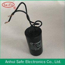 Wholesale high quality cbb60 water pump capacitor with able wire type use for ceiling fan