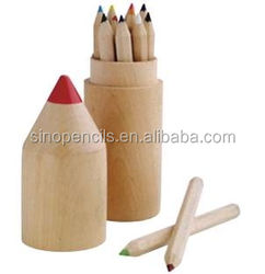 eco pencil BSCI certificated wooden pencil box designs packing in nature wood pencil shape box