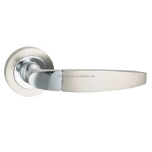 Modern simple style zinc alloy door handle with satin nickel and chrome