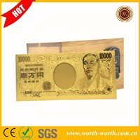 Wholesale price for Japan 10000 Japanese Yen Pure Gold Banknote, Japan Gold Banknote Gift For Value Collection