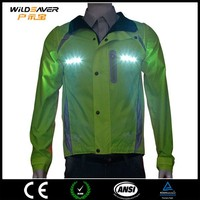 electric jacket/sample winter jacket/winter cycling jacket with Brighter LED