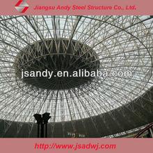 light steel space frame design for construction roof