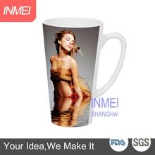 17oz sublimation coated blank latte mug