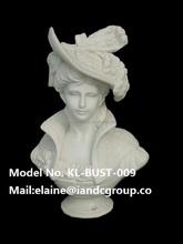 Roman white marbre buste sculpture