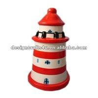 ceramic lighthouse shape coin saver