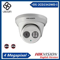 HD Hikvision Hot Selling IP Camear 4.0Mp EXIR Dome, Dual Stream IP66,DC12V & POE