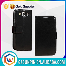 window view with lanyard leather cover case for samsung galaxy s3 i9300
