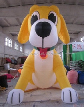 2015 christmas decoration inflatable dog giant,yellow inflatable dog for advertising