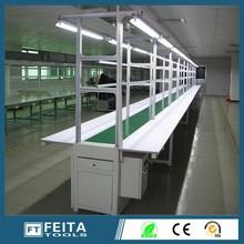 Single belt type conveyor roller assembly line for assembling computer /LED /TV