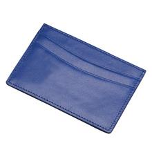Simple design three card slots top grain leather credit card holder ATM card holder OEM wholesale