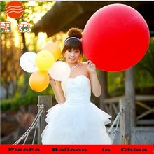 Wedding gift big 36 inch red round shape latex rubber balloon