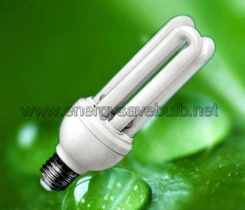 Tri color 3U CFL Energy Saving Light Bulb E27 30W