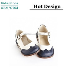 Genuine leather high quality standard low cut girls shoes Italian shoes for kids