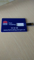 Credit card USB flash drive Promotional card shape Flash pen drive with large logo position