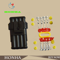 DJ7041-1.5-11/21 1 Kit 4 Pins 4Way Car Auto Truck Waterproof Seal Electrical Wire Connector Plug