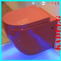 HOMEBASE Verda Back to Wall Toilet inc Cistern RED 2376B
