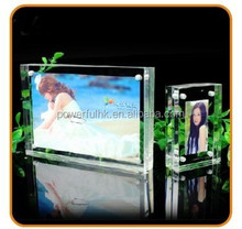 New design desktop acrylic photo stand, picture frame with magnets