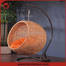 wooden garden swing chair