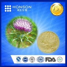 GMP ISO HALAL Silymarin holy thorn extract with free sample for testing