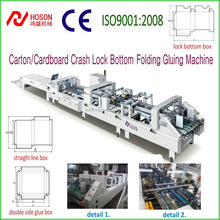 ZH-1000BFT Automatic Carton Cardboard Crash Lock Bottom Box Folding and Gluing Machine