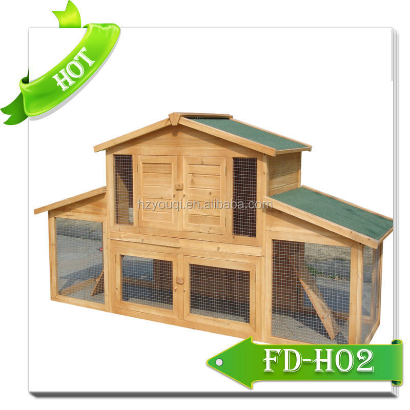 Wooden rabbit house with door/rabbit kennel/pet house wholesales
