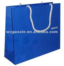 royal blue paper bag