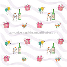 100% virgin wood pulp coctail napkin /square fold/wholesale in China