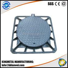 Black Bituminous Paint EN124 Round Cover Square Frame Ductile Cast Iron Manhole Cover