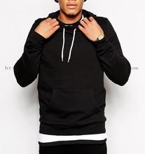 black vintage plain french terry hoodie