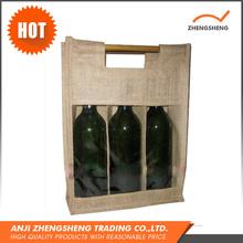 New Fashion Natural Jute Wine Bag