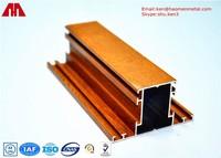High Intensity Wood Grain Aluminium Construction Profiles 6063 T5 / T6