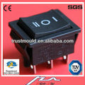 dpdt 16a 6 pin 250v aparato electrodoméstico interruptor basculante iluminado rocker switch 125v 16a