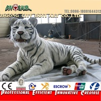 new realistic animal white tiger statue for amusement park