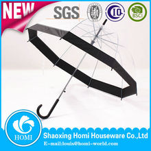 Chinese Straight POE Bubble Transparent Dome Clear Umbrella