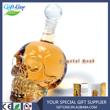 Hot Selling Wholesale Crystal Head Vodka Skull Wine/ Bear Whisky Glass Head Vodka Skull Bottle /Head Vodka Skull Novelty Gift