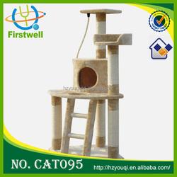 Easy to assemble wholesale cat trees pet product sisal fiber cat tree cat house