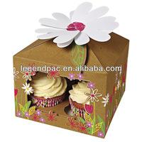 Custom production ecofriendly various paper cupcake box