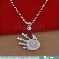 yiwu factory diamond engagement design silver pendant