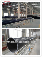 UHMWPE and steel composite pipe for crude oil and waste solid delivery