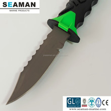 high quality titanium scuba diving knives with sheath and straps for outdoor sports