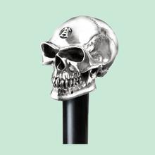 Hallmarked Silver Skull Resin Blind Walking Stick